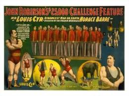 @@@ MAGNET - John Robinson, Strong Men, Vaudeville, Circus - Publicitaires