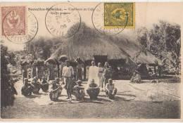 CPA VANUATU NOUVELLE HEBRIDES Cueilleurs De Café Coffee Caffé Timbres Stamps 1906 - Vanuatu