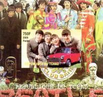 CHAD TCHAD TSCHAD SHEET IMPERF DELUXE BEATLES POP MUSIC - Muziek