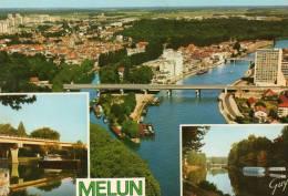 [77000] Seine Et Marne > MELUN Multi Vues  - Cpsm Année 1977 (- Editions :  GUY 4148) * PRIX FIXE - Melun