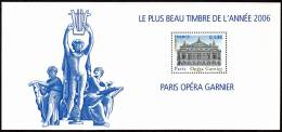 T-0148- Bloc Souvenir N° 24, Le Plus Beau Timbre De L´année 2006, Paris Opéra Garnier, Timbre N° 3926a. - Blocs Souvenir