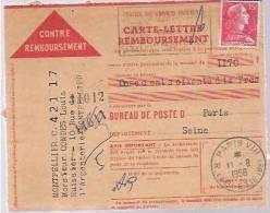France FDC Cover, Stamp, Postmarks, Parcel Card (8436) - Voorafgestempeld