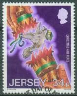 Jersey  1986  Weihnachten - Intern. Jahr Des Friedens  (5 Gest. (used))  Mi: 395 (1,80 EUR) - Jersey