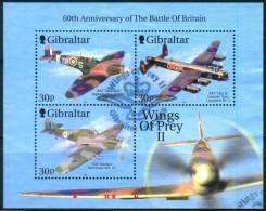 Gibraltar  2000  Kampfflugzeuge II  (1 Klb Gest. (used))  Mi: 939, 941, 943 (15,00 EUR) - Gibraltar