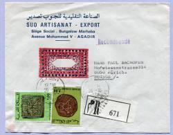 Registered Letter Marocco Maroc To Zürich (572) - Marokko (1956-...)