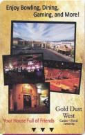 U.S.A. - Carson City Gold Dust West Casino &  Hotel Magnetic Key Card - Grèce