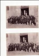 A Identifier:assemblée Des Membres De Sté ???? à  L´abbaye De St Germer De Fly(2 Photos )-Oise -début 20ème - Places