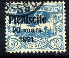 UPPER SILESIA 1921 Plebiscite Overprint On 20 Pfg. Used.  Michel 32 - Germany