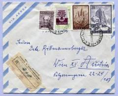 Air Mail Registered Letter Argentina Beccar To Vienna  (579) - Luftpost