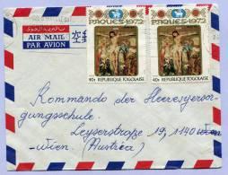 Air Mail Letter Togo To Vienna (582) - Togo (1960-...)