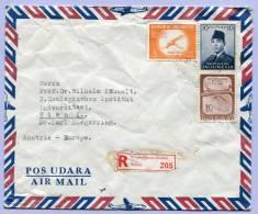 Air Mail Registered Letter Indonesia Mandunghegarmanh To Vienna 1961??? (586) - Indonesien