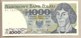 Polonia - Banconota Non Circolata Da 1000 Zloty P-146c - 1982 - Polonia