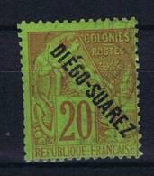 Diego-suarez  Yv Nr 19 Used/obl - Diego-suarez (1890-1898)