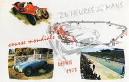 LE MANS (72) 24 Heures Carte Multivues Oblitération 24 Heures 18 -19  Juin 1966 - Sport Automobile