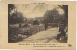 La Drôme Illustrée, Montélimar, Jardin Public, Rond-point, Collection Lux, Editions Lang Fils Aîné, A Circulé En 1932 - Montelimar