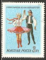 Hungary 1977 Mi# 3205 A Used - State Folk Ensemble, 25th Anniversary - Hongarije