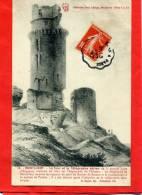 MONTLHERY 1908 TOUR ET TELEGRAPHE AERIEN CARTE EN BON ETAT - Montlhery