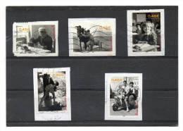 FRANCE  Série Complète   Année 2002  Y&T:3519 à 3523   (sur Fragment Oblitérés) - France