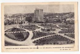AMERICA BRAZIL BELO HORIZONTE KIE OKAZOS XII BRAZILAN NONGRESS OF ESPERANTO CARD ESPERANTO JAMMED CORNER OLD POSTCARD - Belo Horizonte