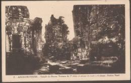 CAMBODGE--ANGKOR-VAT--Temple De Bayon Terrasse Du 1° Etage Et Groupe De Tours A 4 Visages-portion Nord-cpsm.pf - Cambodia