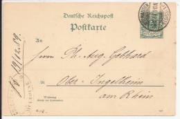 A118 - MULHAUSEN - 1889 - MULHOUSE Haut Rhin - Entier Postal - Poststempel (Briefe)