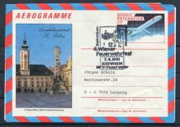 1991 Austria Fire Festival Aerogramme - Firemen