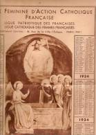 Ligue Féminine D'Action Catholique Française/ Paris/ 1934        CAL108 - Calendriers