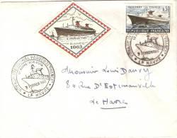 Le France Voyage Inaugural Du 3 Février 1962  Le Havre New-Ork - France