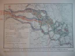 Carte Des Transports De Troupes Par Chemin De Fer Pendant La Bataille De Verdun Du 21 Février Au 6 Juin 1916 - Documents Historiques