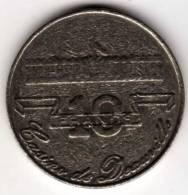 Jeton Machine à Sou De Casino De Deauville 10 Francs (Mauvais Etat) - Casino