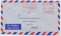 Iran - TEHRAN, 1964. Bank Cover, Air Mail - Iran