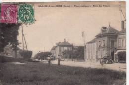 51 - Marcilly Sur Seine - Place Publique Et Allée Des Tilleuls - Editeur: ? - France