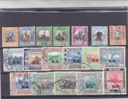 Stamps S# 1951 SC O44-O61 1m:50 Pt USED SET (18 VALS) C#3 CV$40 LOOK - Sudan (1954-...)
