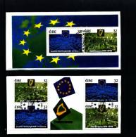 IRELAND/EIRE - 1994  PARLIAMENTARY ANNIVERSARIES  TWO PANES FROM BOOKLET FDI CANCEL - Irlanda