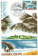 Carte Maximum Guadeloupe, ILE DU GOSIER, 26-06-1970  MAQUETTE  De Bequet, - 1970-79