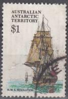 Australian Antarctic Territory 1979 Michel 52 O Cote (2005) 2.00 Euro Bâteau Resolution Cachet Rond - Oblitérés