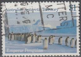 Australian Antarctic Territory 1984 Michel 72 O Cote (2005) 1.60 Euro Manchots Empereur - Oblitérés