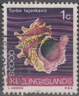Cocos (Keeling) Islands 1969 Michel 8 O Cote (2005) 0.20 Euro Coquillage - Kokosinseln (Keeling Islands)