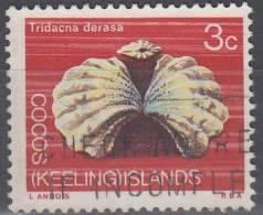 Cocos (Keeling) Islands 1969 Michel 10 O Cote (2005) 0.20 Euro Coquillage - Cocos (Keeling) Islands