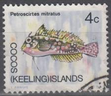 Cocos (Keeling) Islands 1969 Michel 11 O Cote (2005) 0.20 Euro Poisson Cachet Rond - Cocos (Keeling) Islands