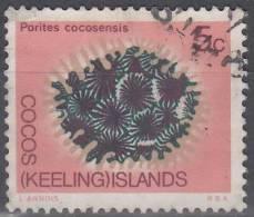 Cocos (Keeling) Islands 1969 Michel 12 O Cote (2005) 0.30 Euro Corail Cachet Rond - Cocos (Keeling) Islands