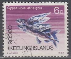 Cocos (Keeling) Islands 1969 Michel 13 O Cote (2005) 0.50 Euro Poisson Volant Cachet Rond - Cocos (Keeling) Islands