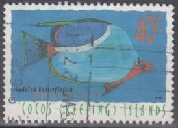 Cocos (Keeling) Islands 1995 Michel 340 O Cote (2005) 0.70 Euro Poisson Papillon - Cocos (Keeling) Islands