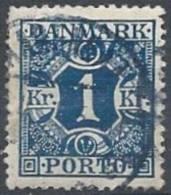 DANEMARK - 1 K. Bleu Taxe  Oblitérée De 1921-27 TB - Postage Due