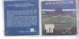 MUNDIAL DE FUTBOL FUTEBOL BALOMPIE ARGENTINA 78 1978 BLISTER DE MONEDAS 1977 Y 1978 - Argentinië