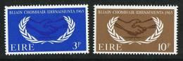 1965  International Cooperation Year  Complete Set  MNH ** - 1949-... République D'Irlande