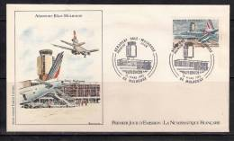 France FDC   Aéroport De Bale- Mulhouse - 1980-1989