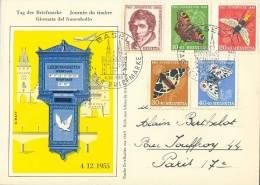 HELVETIA :1955: Y.567-71 On Maxi-card : ## TAG Der BRIEFMARKE / JOURNEE Du TIMBRE / GIORNATA Del FRANCOBOLLO ## - Cartoline Maximum