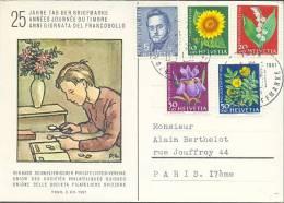 HELVETIA :1961: Y.684-88 On Maxi-card : ## TAG Der BRIEFMARKE / JOURNEE Du TIMBRE / GIORNATA Del FRANCOBOLLO ## - Cartoline Maximum