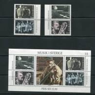 Sweden 1983 Sheet Sc 1473 MNH + Stamps MH Music - Sweden